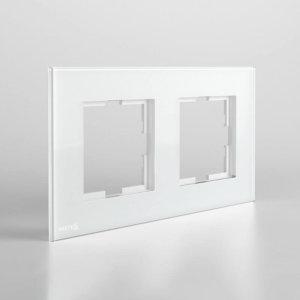 کادر دو خانه افقی نستک سفید