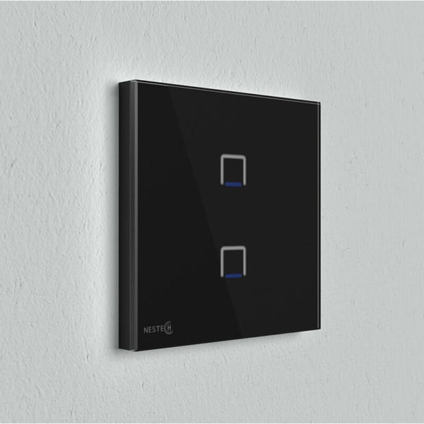 Nestech-Touch-2Gang-Wall-Black