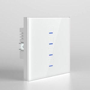 کلید چهار پل لمسی نستک سفید