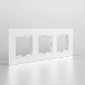 کادر سه خانه افقی نستک سفید