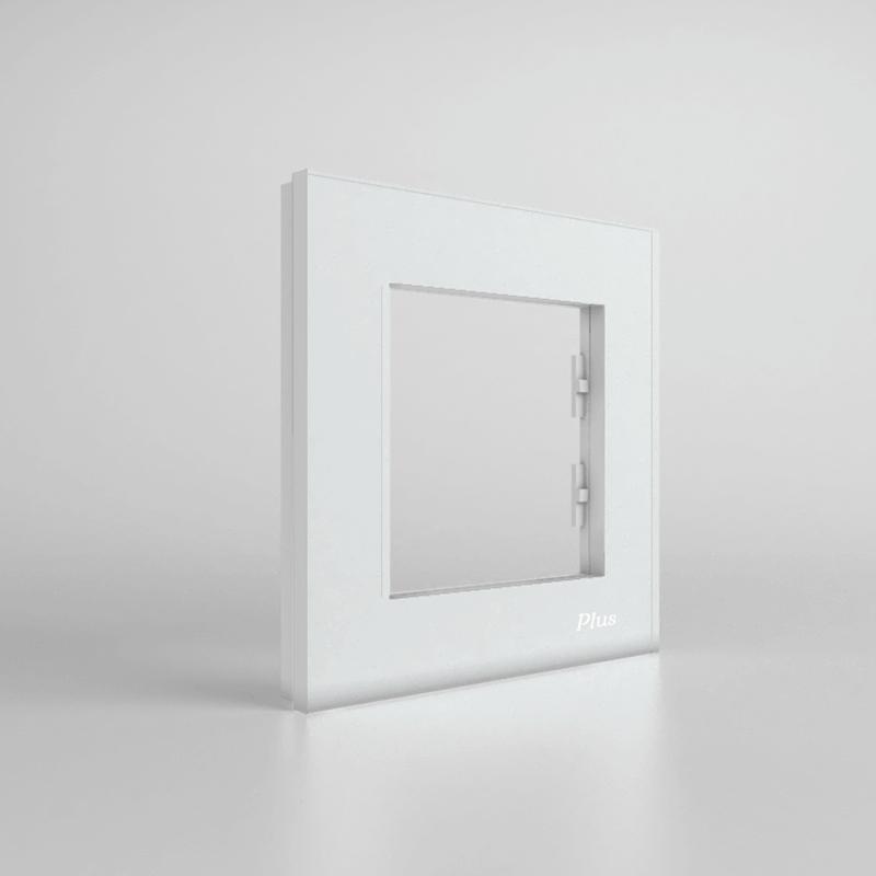 کادر تک خانه پلاس سفید